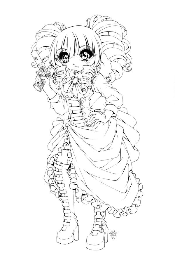 steampunk girl coloring pages - photo#4