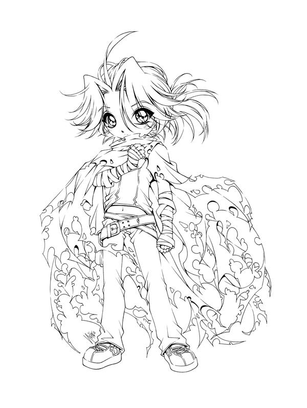 anime coloring pages deviantart outgoing - photo#2