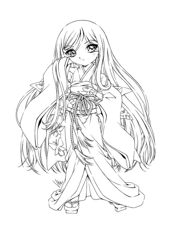 anime coloring pages deviantart art - photo#22