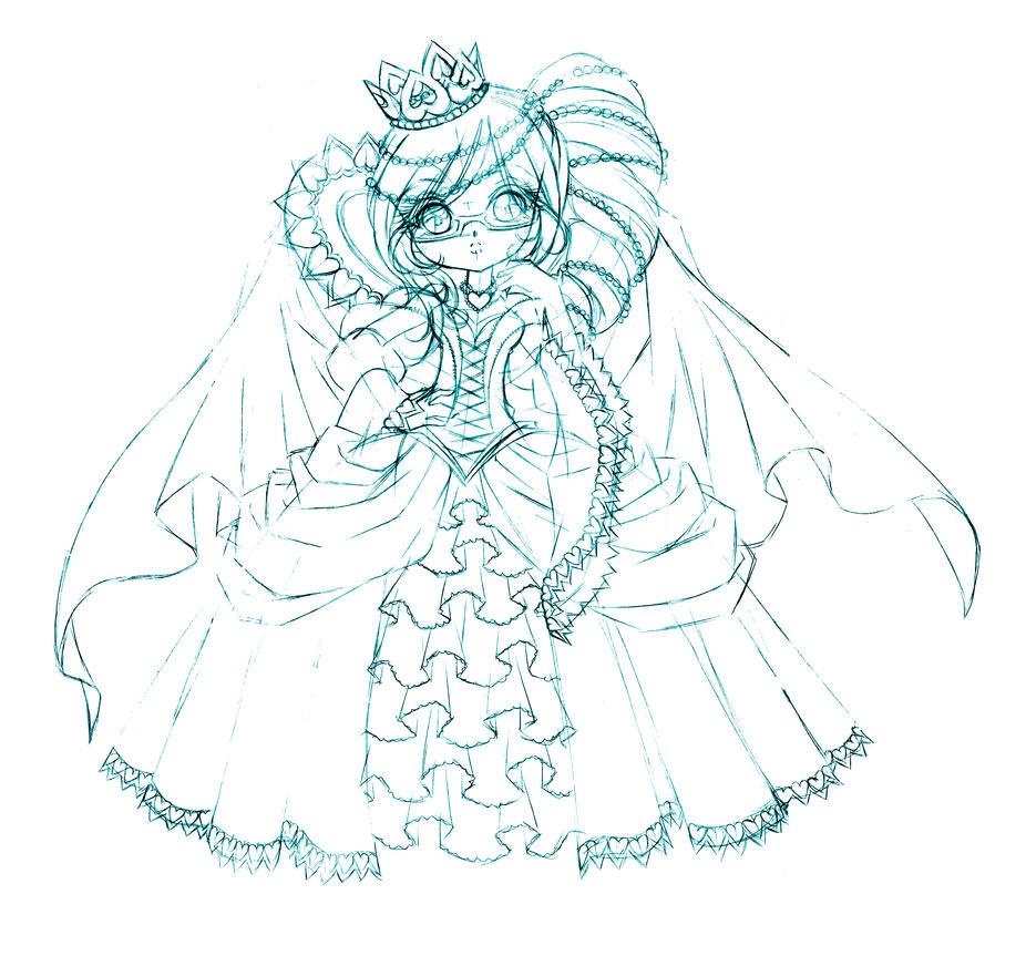 The Queen Of Hearts... Sketch By Sureya On DeviantArt