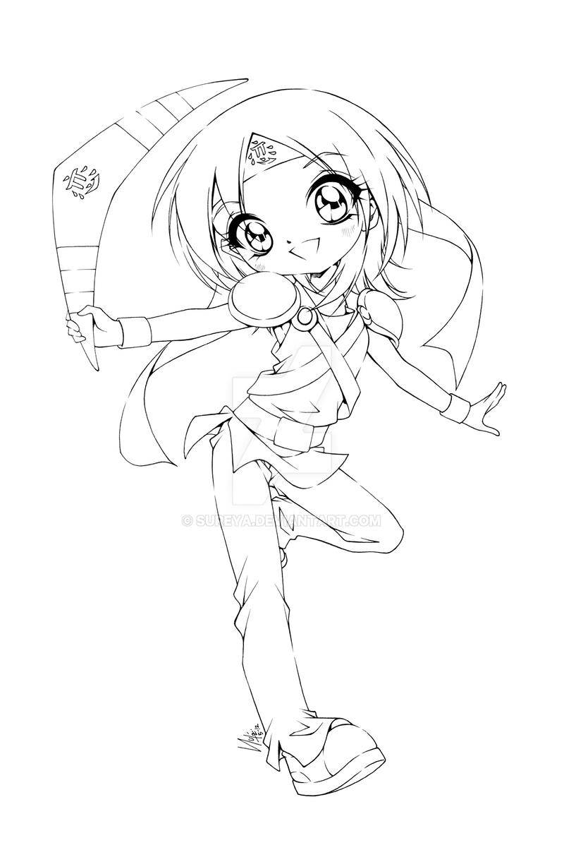 Anime Boy And Girl Coloring Pages