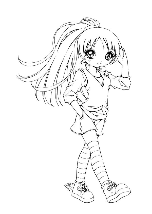 anime coloring pages deviantart art - photo#19