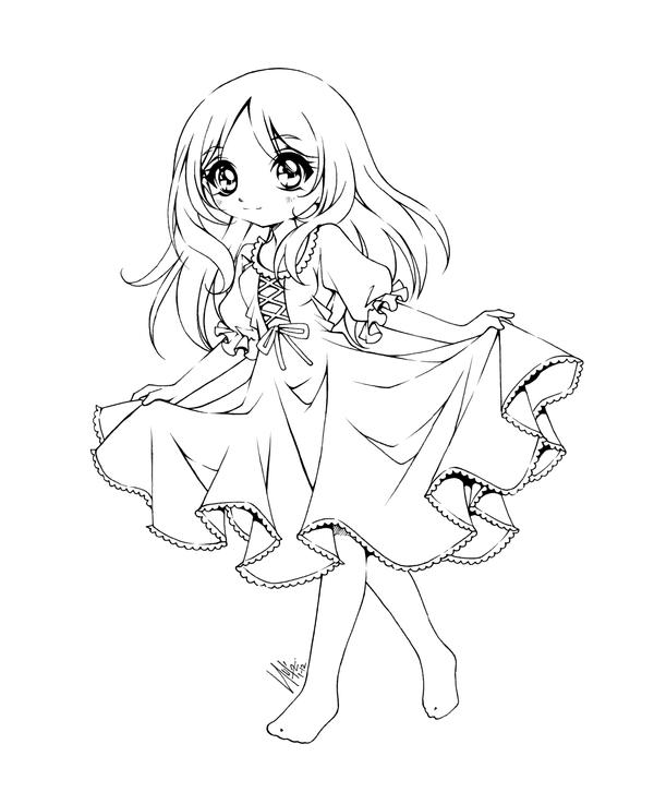 Yandere Coloring Pages Sketch Coloring Page