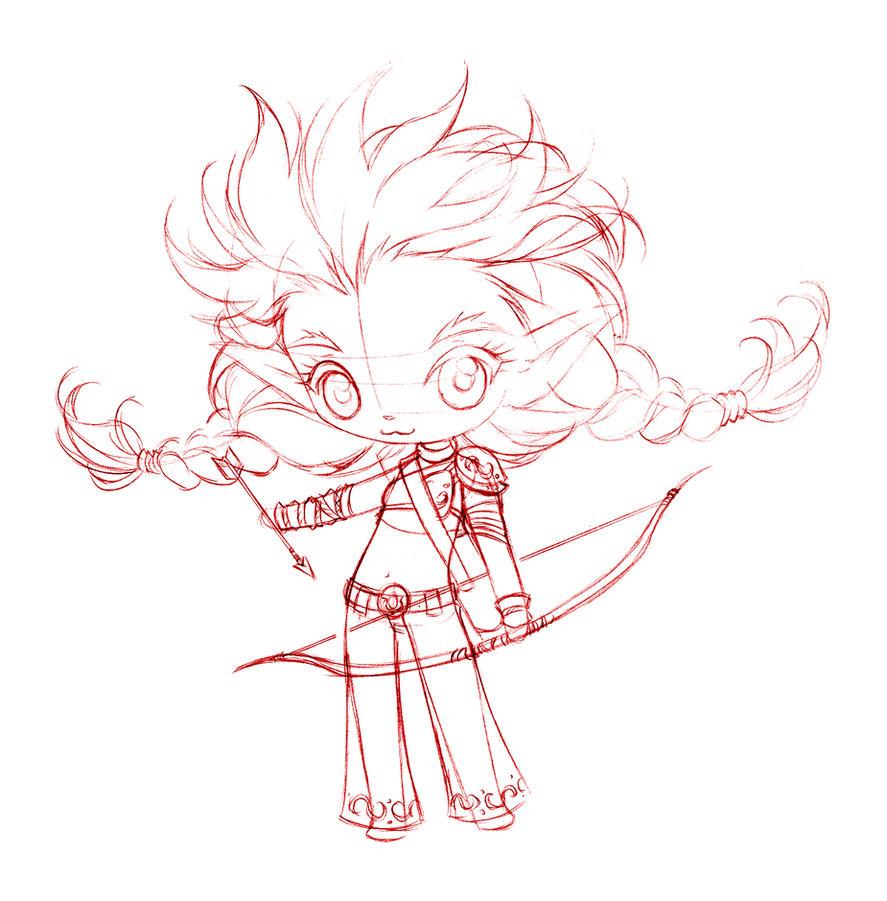 chibichibi gnome... sketch by sureya