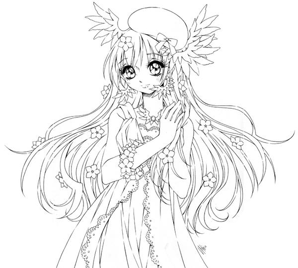 anime coloring pages deviantart photoshop - photo#28