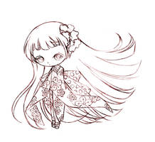 little japanese girl... sketch by sureya