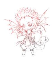 ao'ryu... sketch by sureya