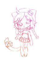 emo kitty... sketch by sureya