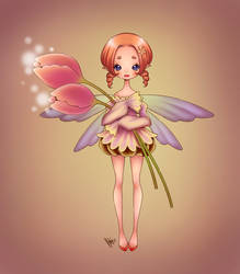 flower fairy... colored