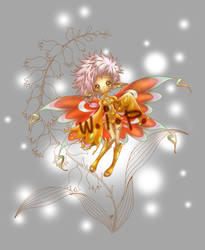 flower pixie... colored w.i.p by sureya