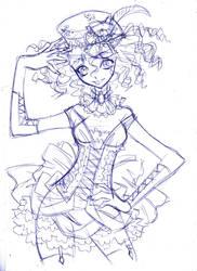 steampunk mad hatter...  draft by sureya
