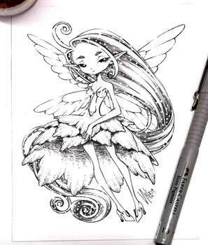 sparkly hair fairy...