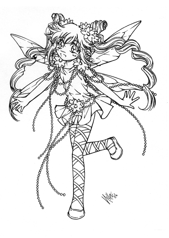 fairy anime coloring pages - photo#33