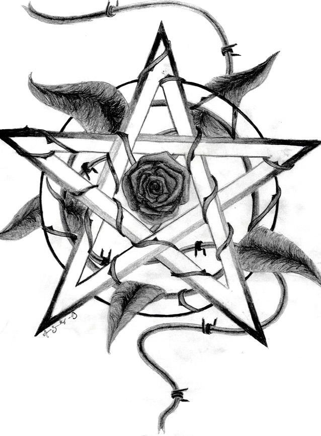 Pentagram. by LadyRosenred on DeviantArt
