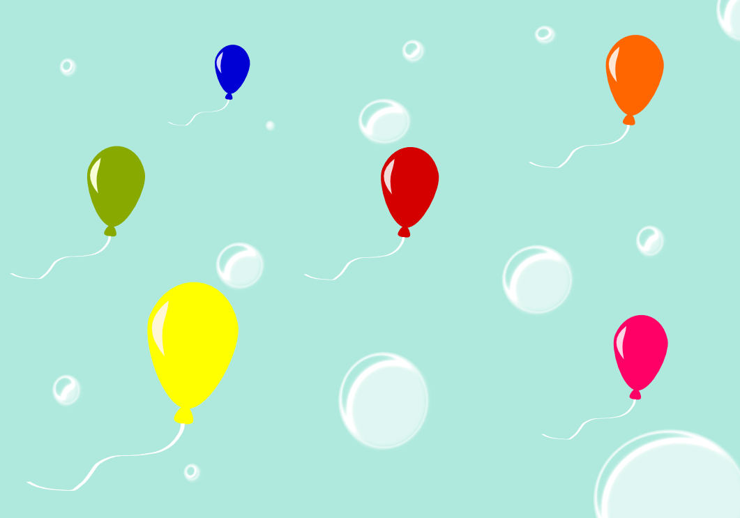 Bubbles And Balloons Wallpaper By MadAsAHatter15