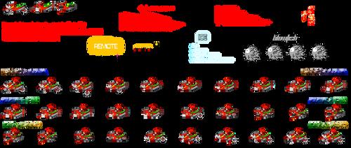 SaASRT: Knuckle's Vehicle Sprite Sheet by Nikko62