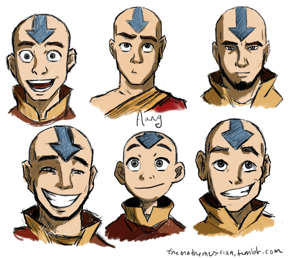 Avatar Aang Drawings: Aang, At Various Ages By Themathemusician On DeviantArt