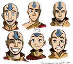 Aang, at various ages