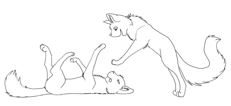 Cats Playing Lineart By Kell-2K On DeviantArt