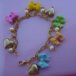 Colorful Bows Bracelet by PinkCakes