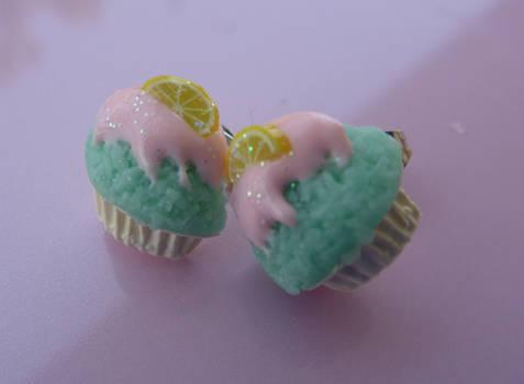 Lemon Cupcake Studs