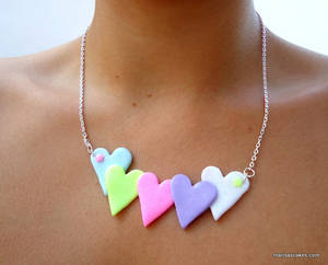 Colorful Hearts Necklace