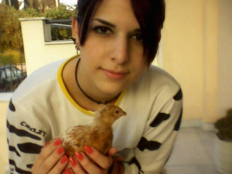 Me a couple of years back with my lil chicky