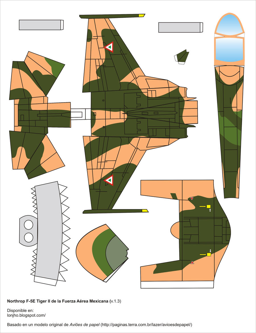 F-5 de la fuerza aerea mexicana pra armar en papel - Taringa!
