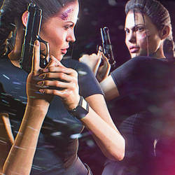 Angelina Jolie as Lara Croft: Tomb Raider by JohnnyB01