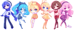 Vocaloid Group in Winter Outfits