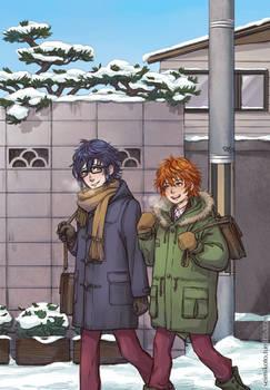 k - snowy day.