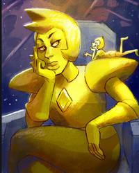 Yellow diamond and yellow pearl~ by Jazzydrawxz
