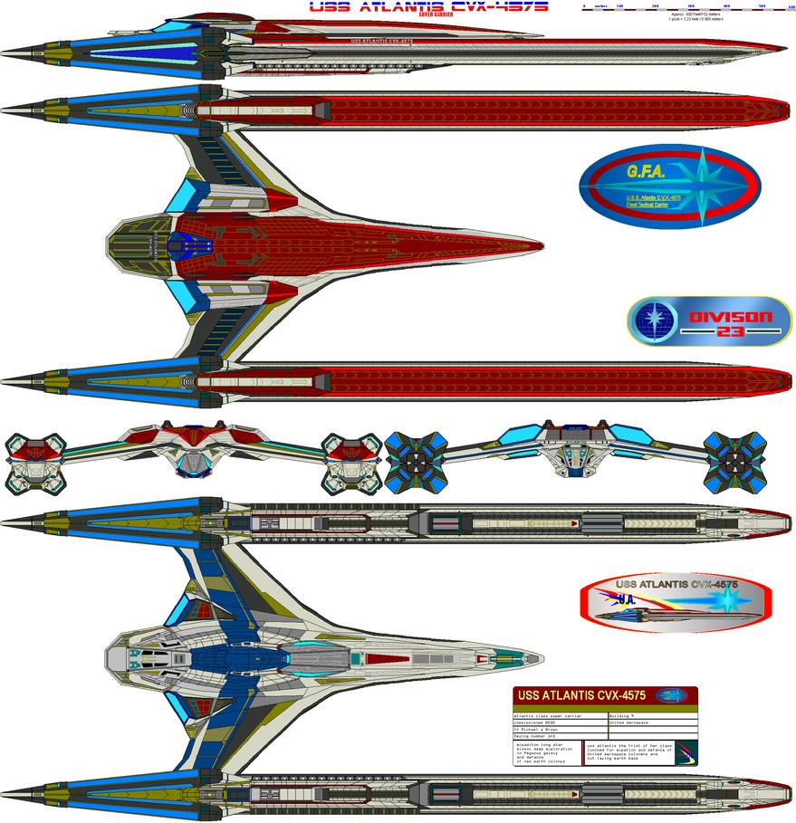USS ATLANIS CVX-4575 update by bagera3005