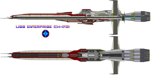 uss enterprise by bagera3005