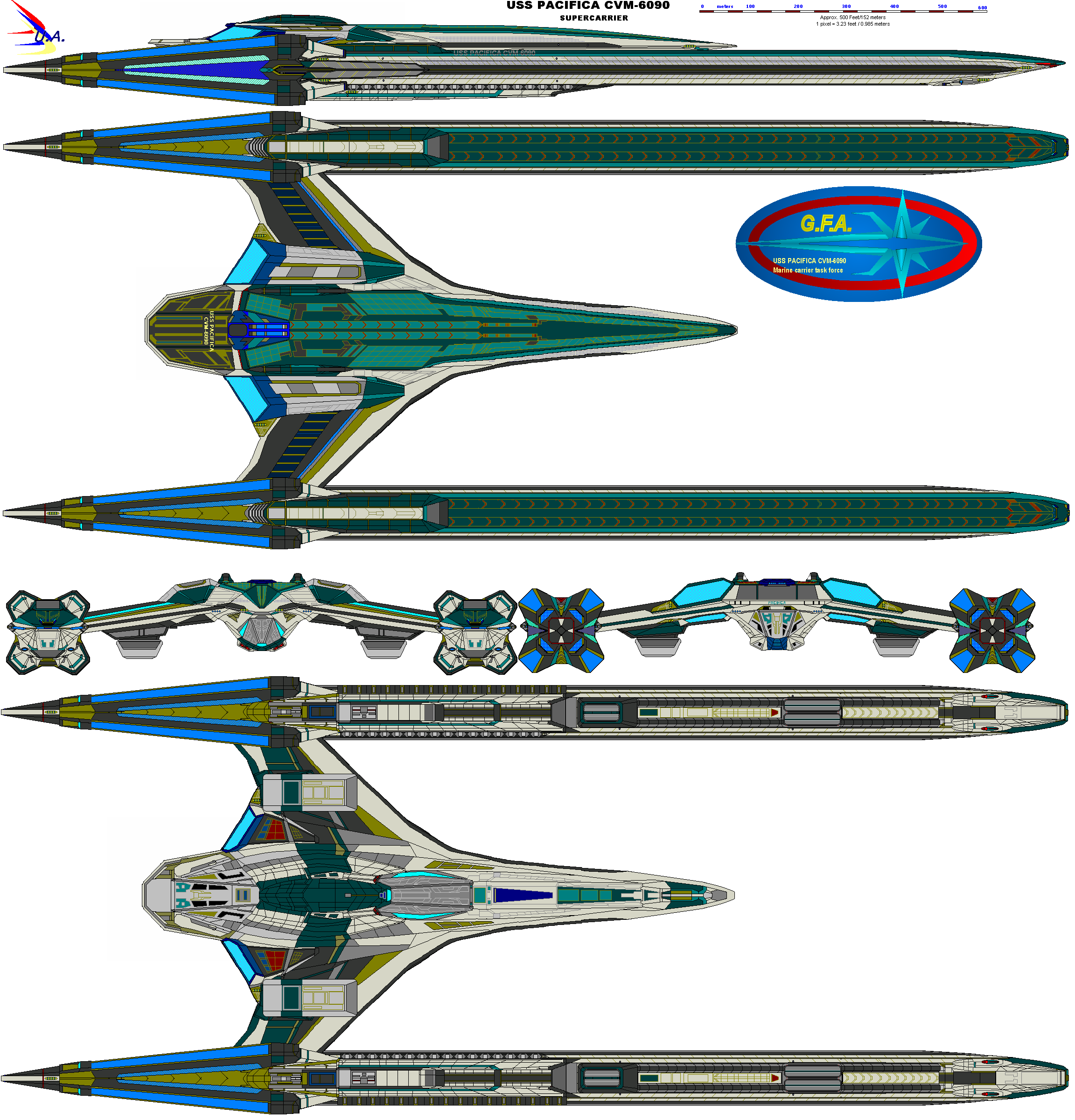 U.S.S. Pacifica CVX-6090 by bagera3005