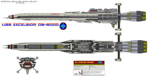 USS Excelsior DB-2000 by bagera3005