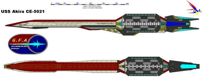 USS AKIRA-5021 by bagera3005