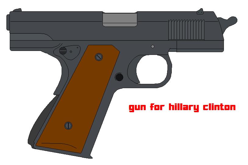 hillary clinton hand gun by bagera3005