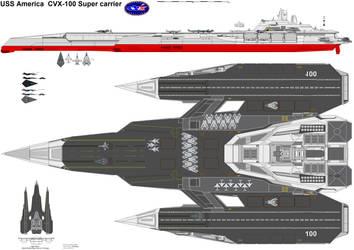 CVX-100 USS America by bagera3005