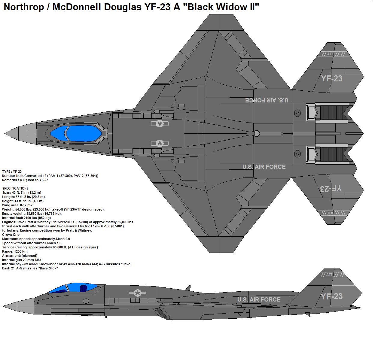 YF-23A Black Widow II by bagera3005