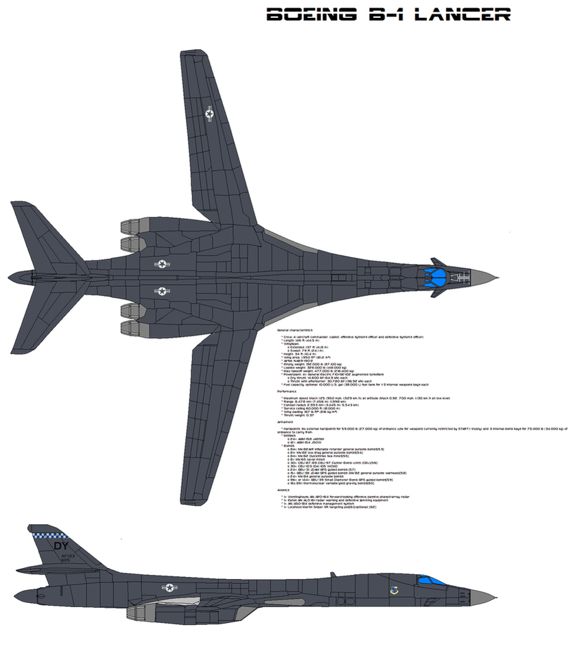 Boeing B-1 Lancer by bagera3005 on DeviantArt B1 Lancer Wallpaper