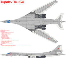 Tupolev Tu-160 Blackjack by bagera3005