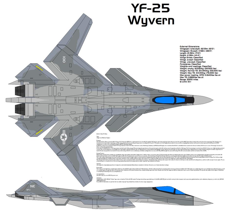 YF-25 Wyvern by bagera3005