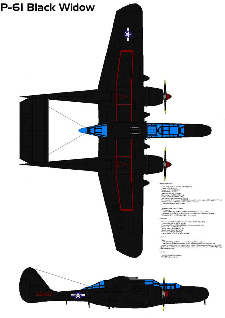 Northrop P-61 Black Widow by bagera3005