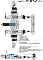 Lockheed P-38 Lightning by bagera3005