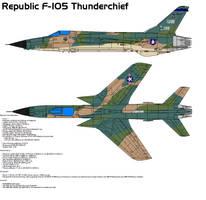Republic F-105 Thunderchief by bagera3005