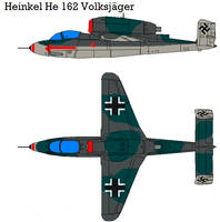 He 162 Volksjager by bagera3005