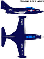 Grumman F-9F Panther by bagera3005