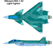 Mikoyan MiG 1.42 light fighter by bagera3005