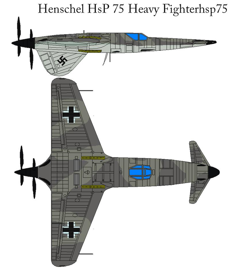 Henschel HsP 75 Heavy Fighterh by bagera3005